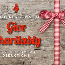 Sugars'Four Good Reasons To Give Charitably, Aside From Tax Deductions